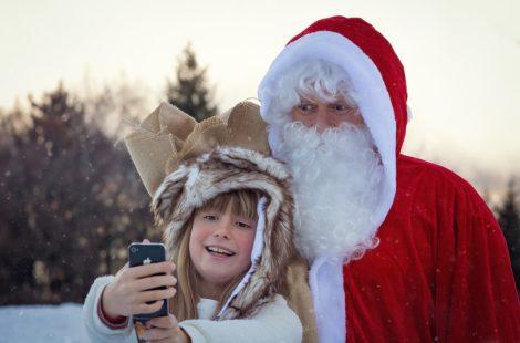 Christmas selfie from Kidslox phone