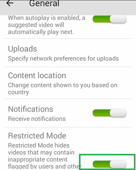 how to watch restricted videos on youtube mobile