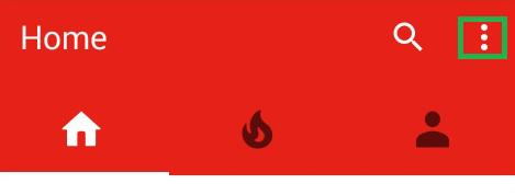 the youtube menu